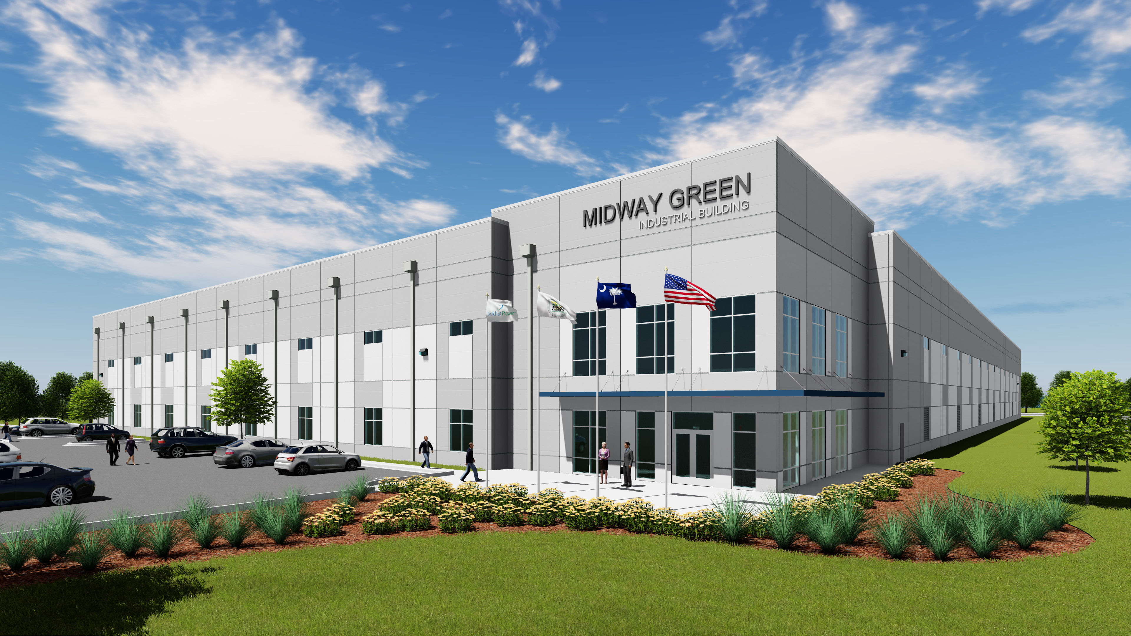 Midway green industrial spec building union county for Building spec homes